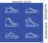 vector sneakers shoes  running  ... | Shutterstock .eps vector #594768779