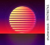 vector backgrounds  80s style... | Shutterstock .eps vector #594780761