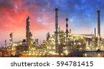 oil refinery  petrochemical... | Shutterstock . vector #594781415