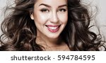gorgeous hair. beauty fashion... | Shutterstock . vector #594784595