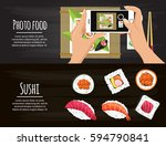 sushi  japanese food.sushi... | Shutterstock .eps vector #594790841