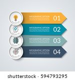 infographic banner with arrow... | Shutterstock .eps vector #594793295