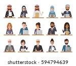 group of working people... | Shutterstock .eps vector #594794639