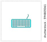 keyboard outline vector icon...
