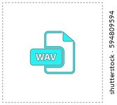 wav outline vector icon with...