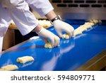 biscuit depositing machine ... | Shutterstock . vector #594809771