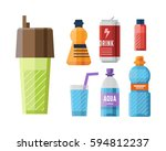 Stock vector sport nutrition icon in flat style detailed healthy food and fitness diet bodybuilding proteine 594812237