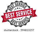 best service. stamp. sticker.... | Shutterstock .eps vector #594813257