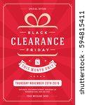 sale flyer or poster design... | Shutterstock .eps vector #594815411