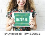 Stock photo natural vitality reviving graphic design word 594820511
