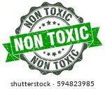 non toxic. stamp. sticker. seal.... | Shutterstock .eps vector #594823985
