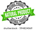 natural product. stamp. sticker....   Shutterstock .eps vector #594824069