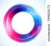 geometric frame  vector... | Shutterstock .eps vector #594824171