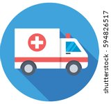 ambulance vector icon | Shutterstock .eps vector #594826517