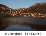bergen  historically bj rgvin ... | Shutterstock . vector #594831464
