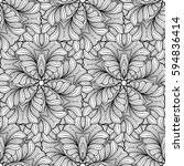 vector abstract black and white ... | Shutterstock .eps vector #594836414
