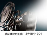 old style movie projector ... | Shutterstock . vector #594844304