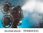 old style movie projector ... | Shutterstock . vector #594844331