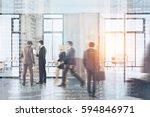 people walk in a modern office... | Shutterstock . vector #594846971