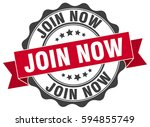 join now. stamp. sticker. seal. ... | Shutterstock .eps vector #594855749