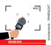 breaking news concept creative... | Shutterstock .eps vector #594856247