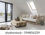 Spacious Interior Of A House A...