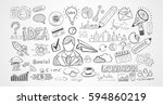 hand drawn sketches and a lot... | Shutterstock . vector #594860219