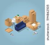 isometric detailed concept... | Shutterstock .eps vector #594862505