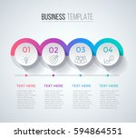 four steps infographics ... | Shutterstock .eps vector #594864551