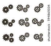 gears on a white background.... | Shutterstock .eps vector #594865034