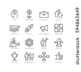 vector line icons set of... | Shutterstock .eps vector #594865649
