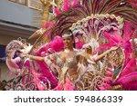 las palmas de gran canaria ... | Shutterstock . vector #594866339