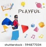 education knowledge explore...   Shutterstock . vector #594877034