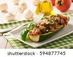 Zucchini Stuffed With Minced...