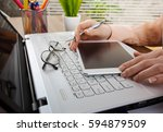 business accounting  | Shutterstock . vector #594879509