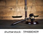 gavel  mallet of justice concept | Shutterstock . vector #594880409