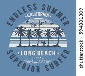 california long beach  superior ... | Shutterstock .eps vector #594881309