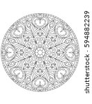 mandala coloring page ... | Shutterstock .eps vector #594882239