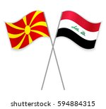 macedonian and iraqi crossed...   Shutterstock .eps vector #594884315