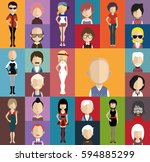 people avatar   with full body... | Shutterstock .eps vector #594885299