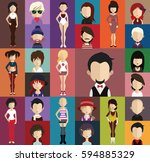 people avatar   with full body... | Shutterstock .eps vector #594885329