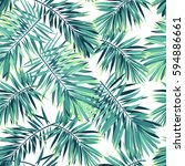 tropical pattern with exotic... | Shutterstock .eps vector #594886661