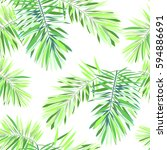bright tropical background with ... | Shutterstock .eps vector #594886691