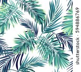 tropical background with jungle ... | Shutterstock .eps vector #594886769
