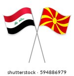 iraqi and macedonian crossed...   Shutterstock .eps vector #594886979