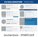 set of 8 flat and modern e mail ... | Shutterstock .eps vector #594891269