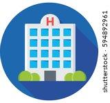 hospital vector icon | Shutterstock .eps vector #594892961