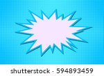 explosion vector illustration.... | Shutterstock .eps vector #594893459