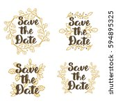 save the date  wedding... | Shutterstock .eps vector #594895325