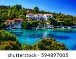 seascapes near fiscardo ...   Shutterstock . vector #594897005